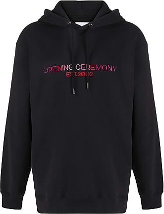 Opening Ceremony logo-embroidered oversize hoodie - Black