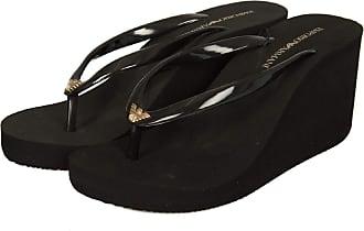 Emporio Armani Womens Thong Sandals Black Black Black Size: 7 UK
