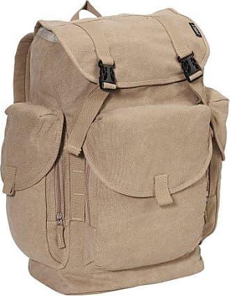 Everest Luggage Canvas Backpack, Khaki, Khaki, One Size