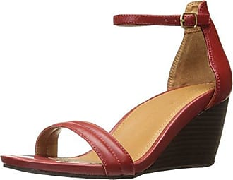 Kenneth Cole Reaction Womens Cake Icing Open Toe Wedge Sandal with Padded Straps, Red, 10 M US