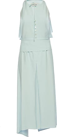 Lanvin Tie Waist Jumpsuit Womens Light Blue