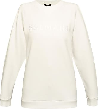 Balmain Sweatshirt With Logo Womens White
