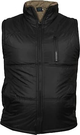 True Face Men Gilet Body Warmer Hunting Fishing Sleeveless Jacket Safari Tobias Coat Winter Casual Full Zip Waistcoat Regular Fit with Zip Pocket on Chest Black