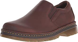 Dr. Martens Dr Martens Mens Boyle Slip On Black Leather Shoe (21096001), Brown, 10 UK