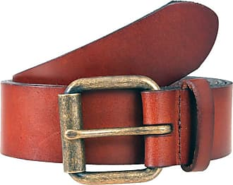 Dents Casual Waxed Leather Belt (Tan, X-Large)