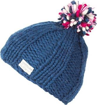 KuSan 100% Wool Bobble Beanie Hat PK1524 (Blue)