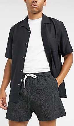 Weekday Eide Striped Shorts in Black/White