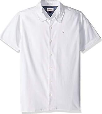 df157bd573af Tommy Hilfiger Tommy Jeans Mens Short Sleeve Button Down Shirt Camp Style