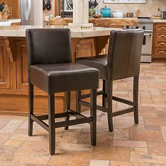 BEST SELLING HOME Natalie Leather Counter Stool - Set of 2 - 295972