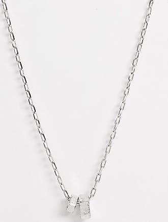 Icon Brand Catenina ad anelli argento con ciondoli a dadi e bulloni