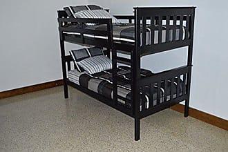 A & L Furniture A & L Furniture 3140BKP Slat Mission Bunkbed, Twin, Black