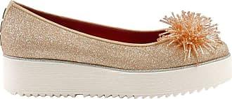 181 Fashion Woman MERA146GLIGLITNUDE Pink Leather Flats | Spring Summer 20