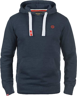 Solid BennHood Mens Hoodie Hooded Sweatshirt Jumper with Hood with Fleece Lining, Size:M, Colour:Insignia Blue Melange (8991)