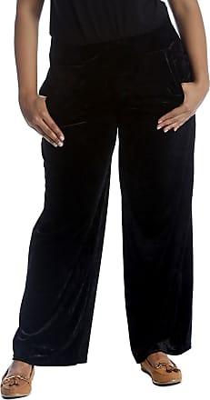 Nouvelle Collection Plain Velvet Trousers Black 24-26