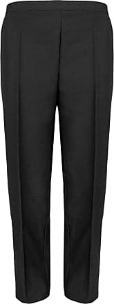 WOMENS HALF ELASTICATED TROUSERS PANTS GIRLS SCHOOL OFFICE LADIES BOTTOMS 10-24