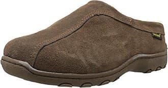 Old Friend Footwear Mens Alpine Sheepskin-Lined Clog,Dark Brown,15 M