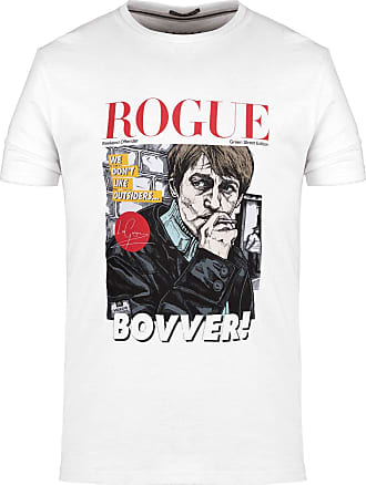 Weekend Offender Rogue Bovver Leo Gregory Green Street T-Shirt in White 3XL