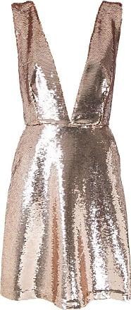 OLYMPIAH Vestido Oriente metalizado com paetês - Dourado