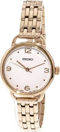 Seiko Mens SUR672 Gold Stainless-Steel Japanese Quartz Dress Watch
