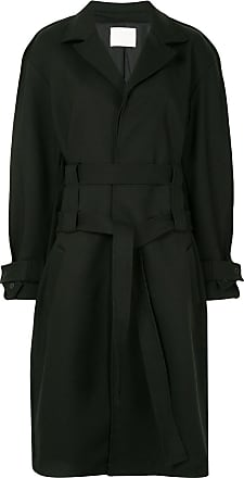 Dion Lee double belt trench coat - Black