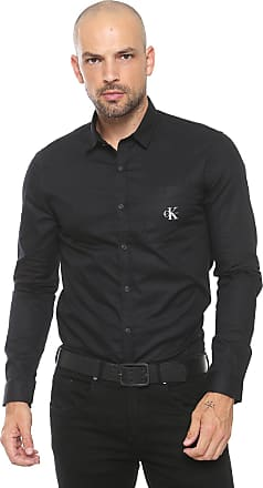 Calvin Klein Jeans Camisa Calvin Klein Jeans Reta Logo Preta