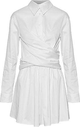 Opening Ceremony Opening Ceremony Woman Wrap-effect Cotton-blend Sateen Mini Dress White Size 6