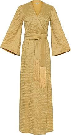 The Crocale Suzy Silk Wool Dress Yellow
