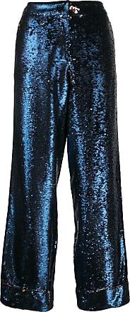 In The Mood For Love Calça pantalona com paetê Loren - Azul