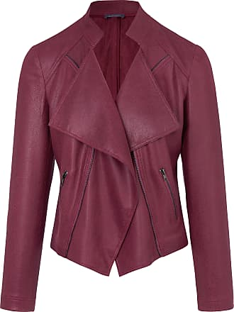 MYBC Biker-style jacket in faux suede MYBC purple
