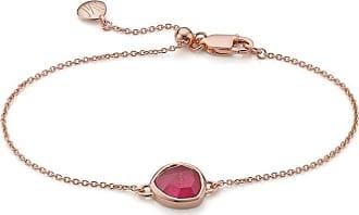 Monica Vinader Siren Pink Quartz bracelet - GOLD