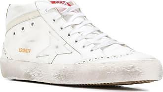 Golden Goose Mid Star High-Top-Sneakers - Weiß