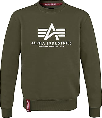 Alpha Industries Basic Sweater dark oliv, Größe XXL