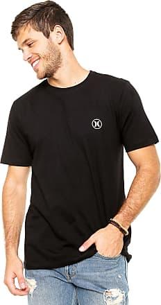 5adda34f5fa99 Hurley Camiseta Hurley Silk Block Party Icon Preta