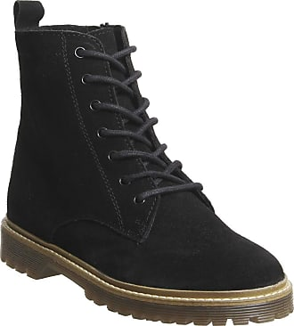 Office Aston- Ribbed Sole Lace Up Black Suede - 7 UK
