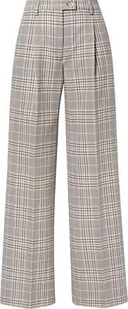 Acne Studios Pantalon Large En Coton Mélangé À Carreaux Pina - Gris 23adfe51f54