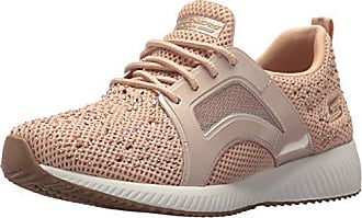 Skechers BOBS Womens Bobs Squad-Star Chase Sneaker, Rose Gold, 5.5 M US