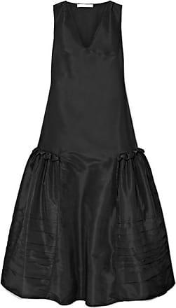 Cecilie Bahnsen Pleated Taffeta Maxi Dress - Black