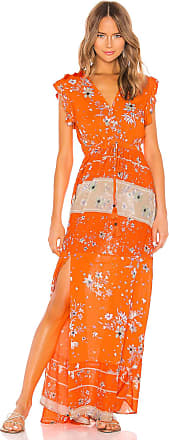 Maaji Cinched Maxi Dress in Orange