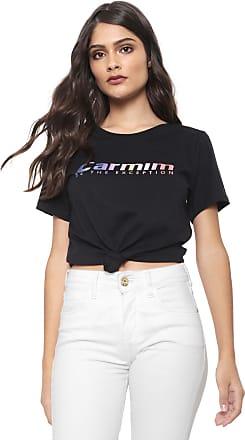 Carmim Camiseta Carmim Gradient Preta
