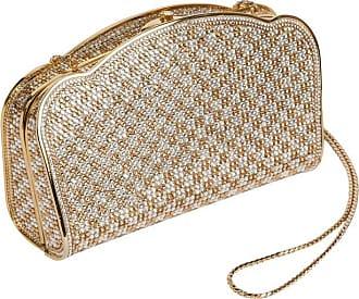 bd276cd0fbd3 Judith Leiber Gold   Silver Swarovski Crystal Minaudière Evening Bag Clutch