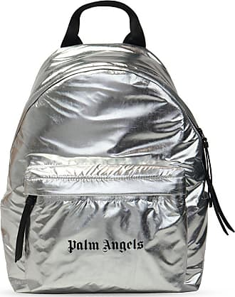 Palm Angels Backpack With Logo Unisex Silver