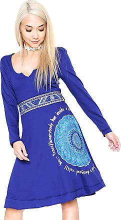 Desigual Vestido Desigual Curto Happy Azul