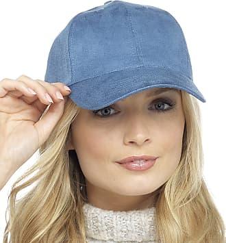 Foxbury Ladies Faux Suede Cap Blue