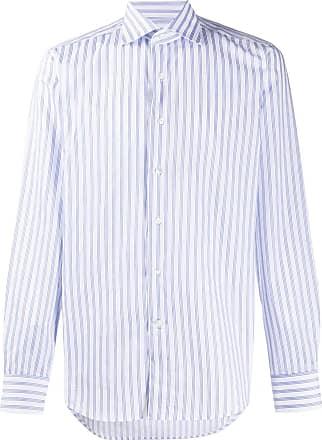 Canali Camisa com listras - Azul