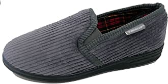 Dunlop Mens Famous Byron Corduroy Slippers (12 UK, Grey)