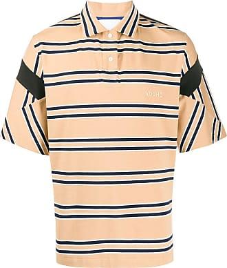 Koché Camisa polo com estampa de listras - Neutro