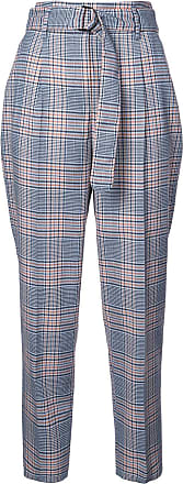 Akris checked high waisted trousers - Blue