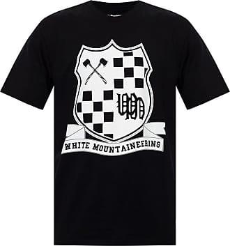 White Mountaineering Logo-printed T-shirt Mens Black