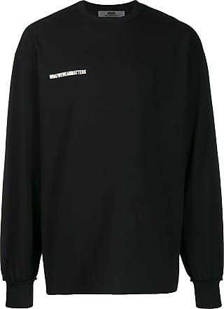 WWWM - What We Wear Matters Moletom oversized com estampa de logo - Preto