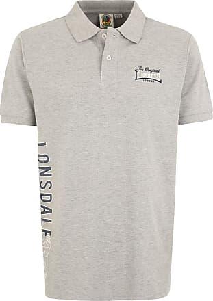 Lonsdale London Mens BUGFORD Polo Shirt, Gray, L
